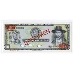 Banco Central de Reserva del Peru, 197 Specimen Banknote.