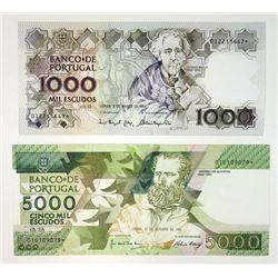 Banco de Portugal, Nice Pair of Portuguese Replacement Notes, 1991-1994.