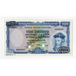 Banco Nacional Ultramarino, 1959 Specimen Banknote.