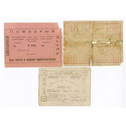 Various Issuers, ca.1920-1922, Trio of Private Issue Notes