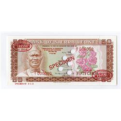 Bank of Sierra Leone, 1980 Specimen Banknote.