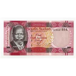 Bank of South Sudan, 2011, Issued Banknote.