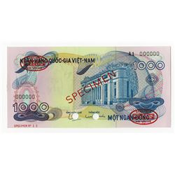 National Bank of Viet Nam, ND (1971) Specimen Banknote.