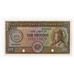 Banco Nacional Ultramarino, 1958 Specimen Banknote.