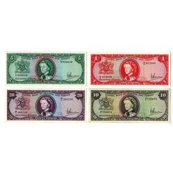 Central Bank of Trinidad and Tabago, L.1964 Banknote Quartet.