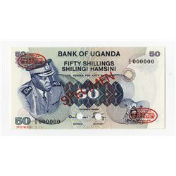 Bank of Uganda, ND (1973) Specimen Banknote.