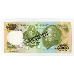 Banco Central del Uruguay, ND (1978-1987) Specimen Banknote.