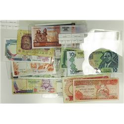 Assorted African Issuers. 1971-2004. Group of 27 Issued Notes.