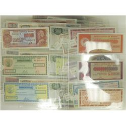 Banco Central de Argentina & Bolivia, 1960s-90s, Collection of 85 Notes.