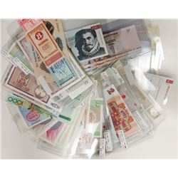 Assorted European & Asian Issuers. 1938-1993. Group of 80+ Issued Notes.