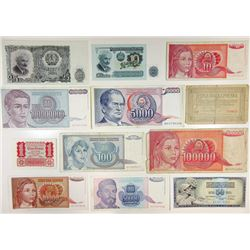 Assorted Eastern European Issuers. 1920-1990. Group of 33 Issued Notes.