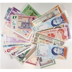 Assorted World Issuers. 1980s-2010s. Group of 58 Issued Notes.