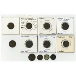 Modena: Ercole III d'Este, 1780-1796, Group of 12 Coins