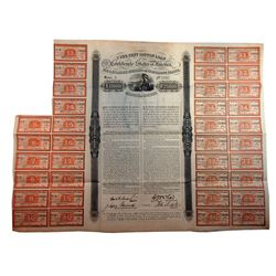 C.S.A., 1863, £,1000, 7% Erlanger Cotton Loan, Issued Bond.