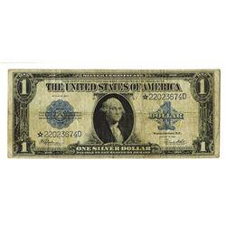 U.S. Silver Certificate, $1, 1923 Fr.#237 Star Note.