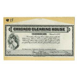 Chicago Clearing House, 1933 Proof Depression Scrip Note.