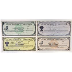 State of North Dakota. 1933. Quartet of Unissued Depression Scrip.