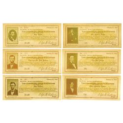 Lewisburg Grain Elevators, 1933 Lot of 6 Different Notes.