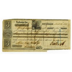 Clason & Co., 1856 Issued 3rd of Exchange Draft.
