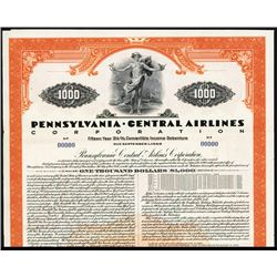 Pennsylvania Central Airlines Corp. Specimen Bond.