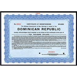 Dominican Republic, ca. 1920-30's Specimen Bond.