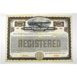 Mexican Petroleum Co., Ltd. of Delaware. 19xx,ca.1921 Specimen Bond..