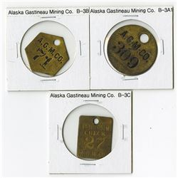 Alaska Gastineau Mining Co. (A.G.M.Co.), Trio of Tokens
