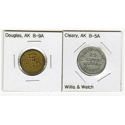 Douglas and Cleary, Pair of Trade Tokens