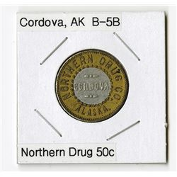 Northern Drug Co, Cordova. Bimetallic Trade Token