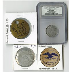 Quartet of Assorted Alaskan Tokens