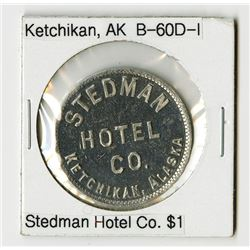 Stedman Hotel Co., Ketchikan. Trade Token