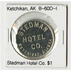 Stedman Hotel Co., Ketchikan. Trade Token