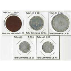 Teller, Quintet of Trade Tokens