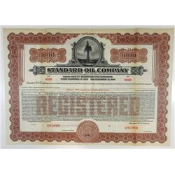 Standard Oil Co., 1925 Specimen Bond.
