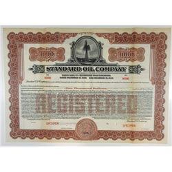 Standard Oil Co., 1925 Specimen Bond.