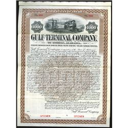 Gulf Terminal Company of Mobile Alabama, 1907 Specimen Bond.