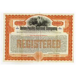 Union Pacific Railroad Co., 1908 Specimen Bond.