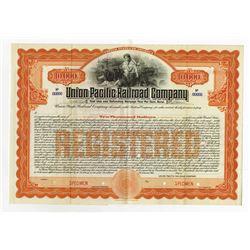 Union Pacific Railroad Co., 1908 Specimen Bond.