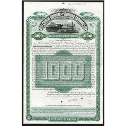 Central Railroad and Banking Co. of Georgia, 1887 Specimen Bond