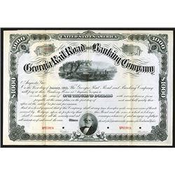 Georgia Railroad and Banking Co., ca.1880-1890 Specimen Bond