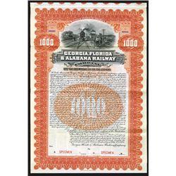 Georgia, Florida & Alabama Railway Co., 1904 Specimen Bond