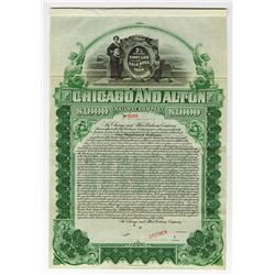 Chicago and Alton Railway Co., 1900 Specimen Bond