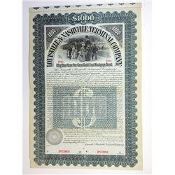Louisville & Nashville Terminal Co., 1896 Specimen Bond