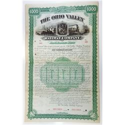 Ohio Valley Railway Co., 1886 Specimen Bond.