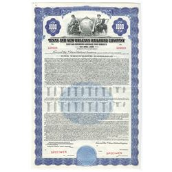 Texas and New Orleans Railroad Co., 1946 Specimen Bond.