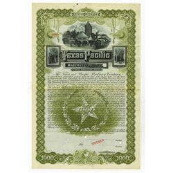 Texas and Pacific Railway Co., 1888 Specimen Gold Bond.