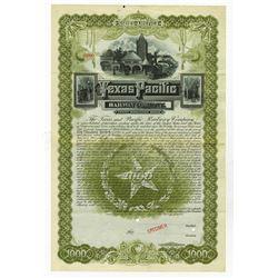 Texas and Pacific Railway Co., 1888 Specimen Gold Bond.