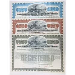 Illinois Central Railroad Co. and Chicago, St.Louis and New Orleans Railroad Co. 1913 Specimen Regis