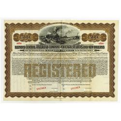 Illinois Central Railroad Co. and Chicago, St. Louis and New Orleans Railroad Co., 1913 Specimen Bon