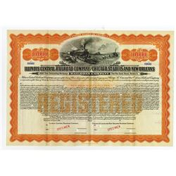 Illinois Central Railroad Co. and Chicago, St. Louis and New Orleans Railroad Co., 1913 Specimen Bon